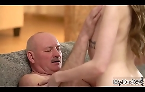 Waking daddy and elderly men doggy Russian Language Power