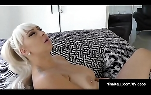 Horn-mad Hot Nina Kayy Masturbates During Sexting Fuck Session!