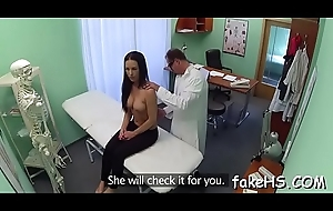 Wet cunt of a hot doctor endures unmerciful hammering