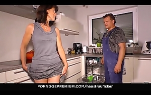HAUSFRAU FICKEN - Cock sucking German big Chief wife is a granny who loves reverse cowgirl sex