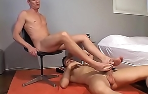 Dylan and Cedric licking feet and in advance anal screwing