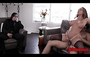 Prex cougar Richelle Hard rides cock while hubby watches