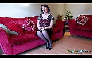 EuropeMaturE Lonely Lady Solo Objurgation Video