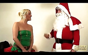 UK subslut hammered plus fed with jizz at the end of one's tether maledom Santa
