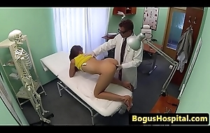 Euro babe pounded by her doctors cock