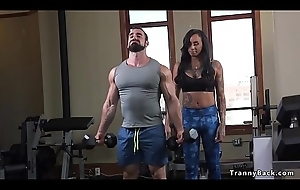 Tranny propensity instructor fucks muscled guy
