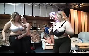 He fucks BBW and other fat girls watching