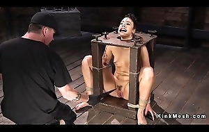 Hogtied thither chair acquires whipped