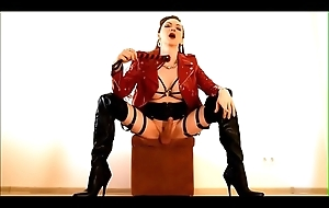 Mistress Shemale Katerina dominates with the brush vivid dig up