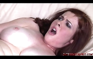 Redhead Mom plowed by big black horseshit