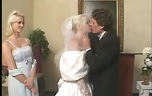 Fetish bride with satin wedding dress gets a hard rough DP