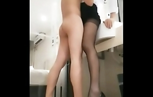 Ladyboy in Stockings plus a camouflaged Skivvying